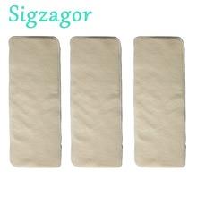[Sigzagor] 3 конопли хлопок orgnic Подставки стирать многоразовые ткани детские пеленки 36 см x 14 см 3 слои