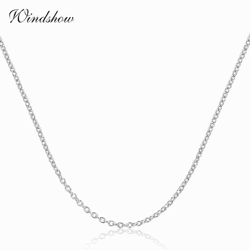 6 Sizes Available Real 925 Sterling Silver Cross Rolo Chain s