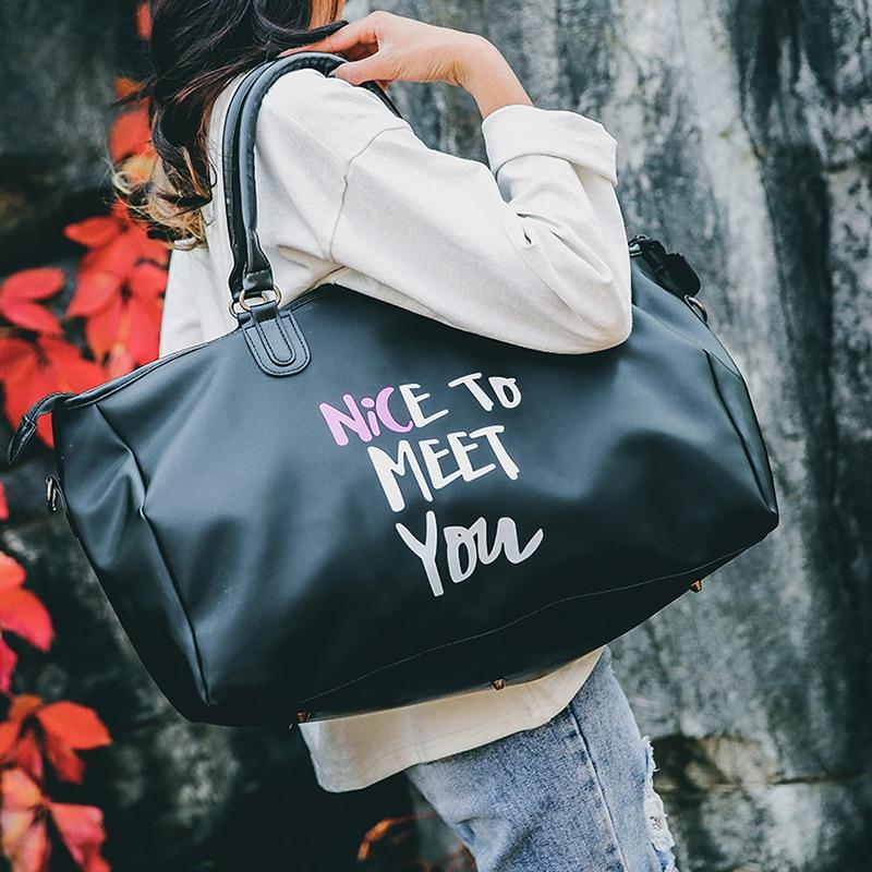2019 Korean Travel Bag women Large Capacity Business Men Luggage Bag Multifunctional Waterproof Female Travel Hand Bag in Travel Bags from Luggage Bags