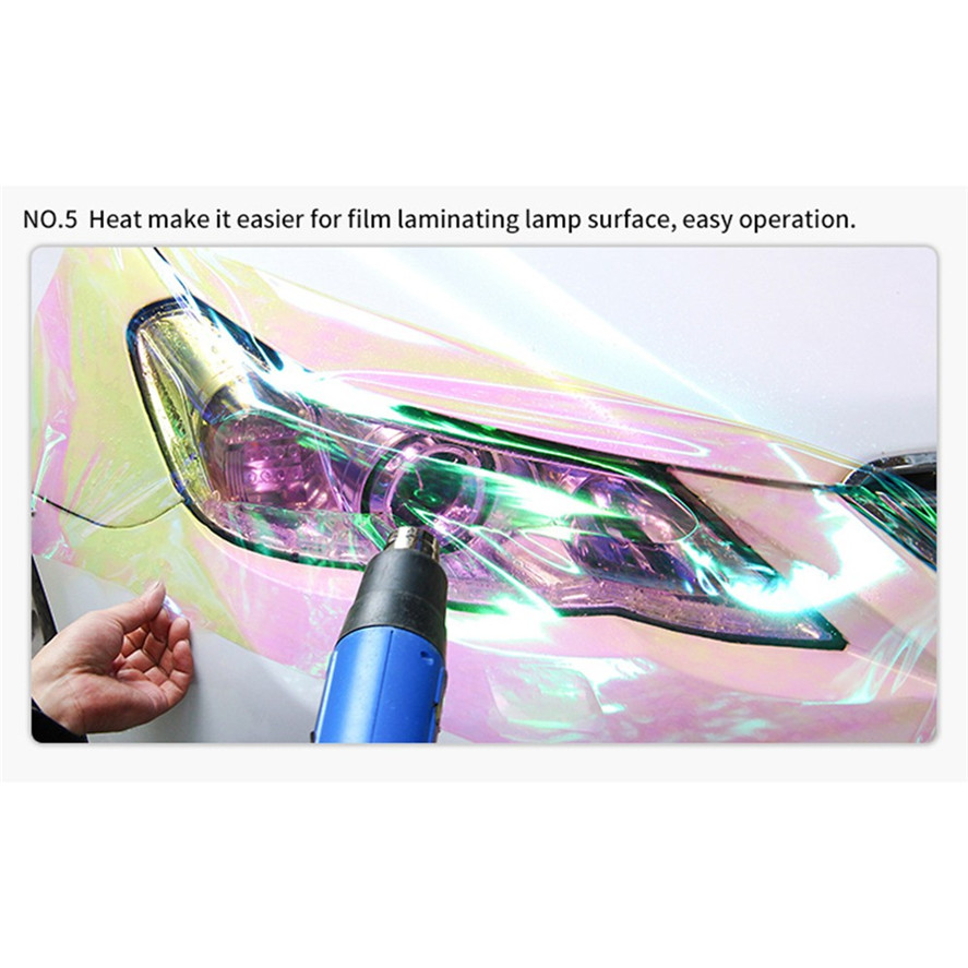 Color-Changing Chameleon Headlight Taillight Vinyl Tint Sticker Light Film Wrap for Car Styling 30X60CM