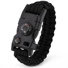 15 в 1 паракордовый браслет для выживания многофункциональный военный аварийный Кемпинг спасательный EDC браслеты тактика побега ремешок на запястье