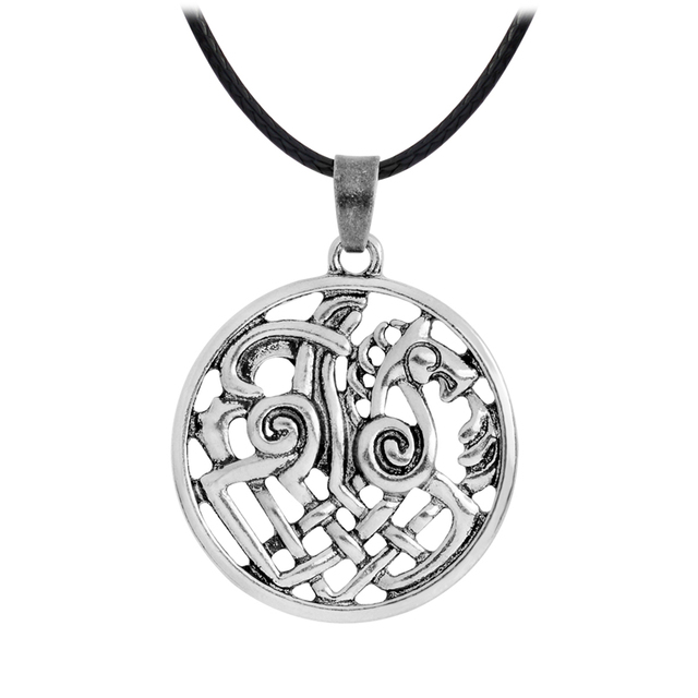 Hollow Nordic Odin Sleipnir Kolovrat Pendant Necklaces Viking chain Vintage Antique silver bronze Men Jewelry Gift for Friend 2