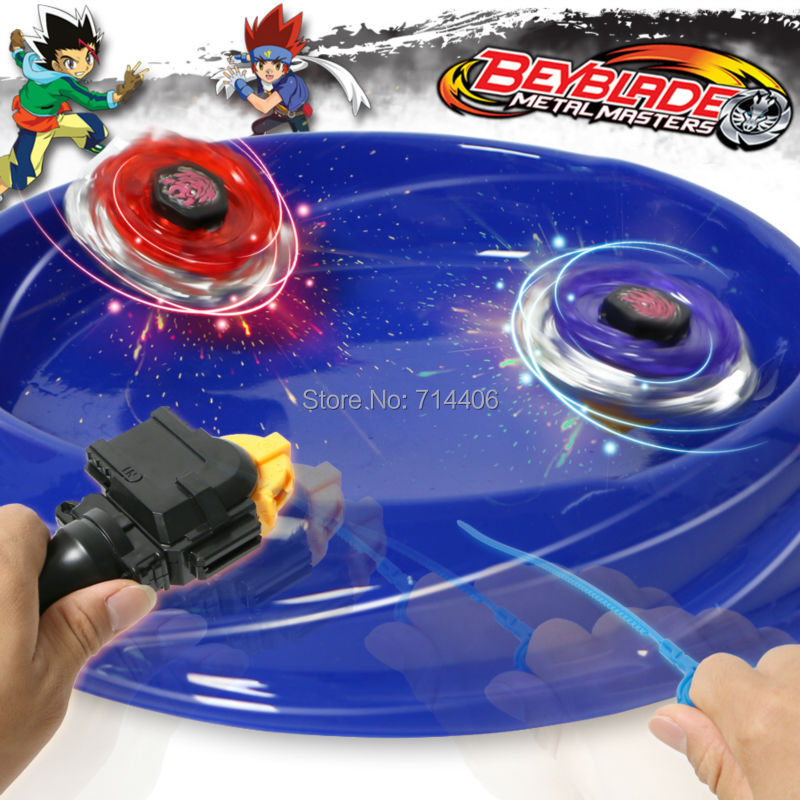fidget spinner Metal Master Beyblade 4D Launcher Grip toy set,super-assembly 4 pcs Fight spinning top for boy gift classic toy