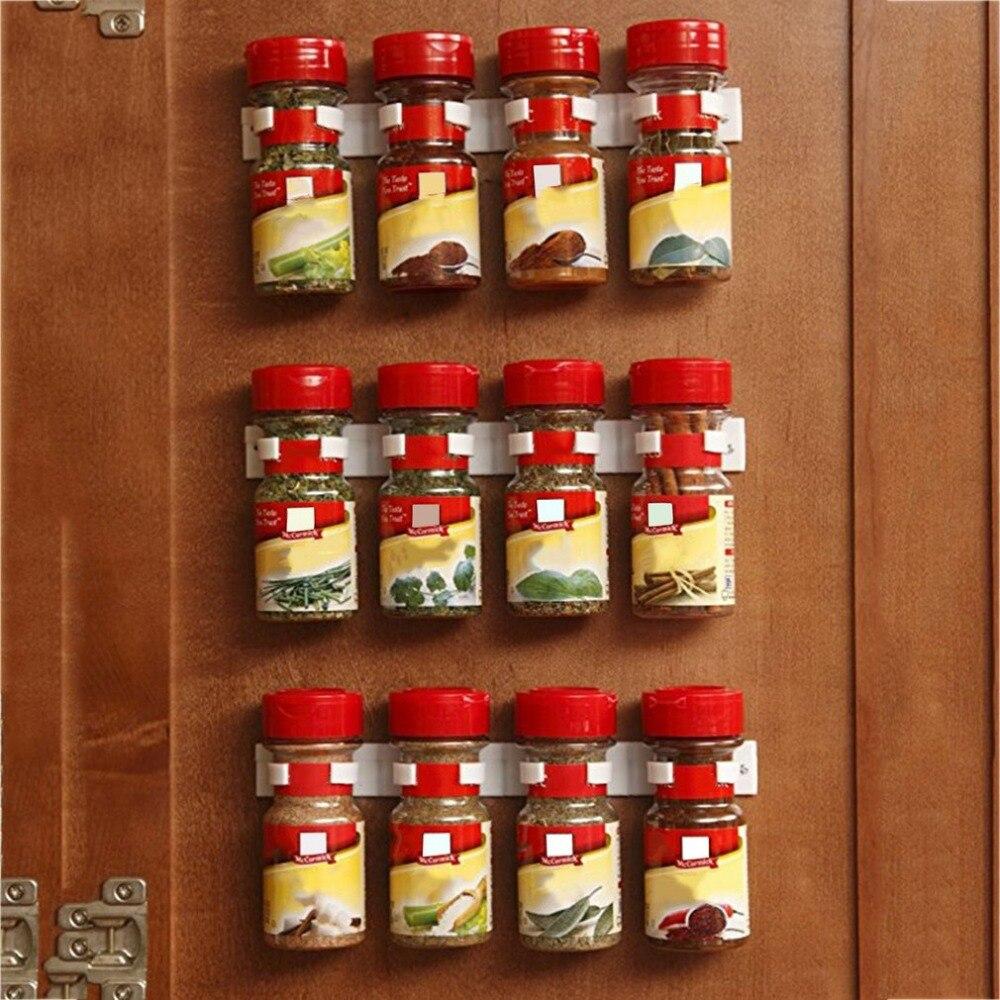 Clip N Store Kitchen Spice Organizer Lightweight Storage Rack Shelf Rack Kitchen Spice Seasoning Carrier Bottle Holder Gripper
