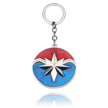 Movie Avengers Superhero Captain Marvel Alloy Car Key Chain Holder Best Friend Graduation Chirstmas Day Gift