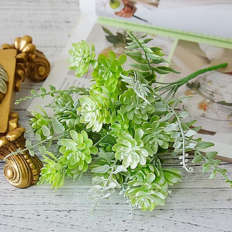 New Plastic lotus Succulent plants artificial DIY suculentas artificiais wedding decoration plant flores fake flowers wreath
