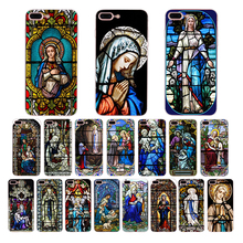 IMIDO Soft silicone case Virgin Mary art patterned for iphone x xs xr xsmax 7/8plus 6s/6plus 5s 6s se 7 8 6 5 TPU phone shell бк 05 магнит божья коровка 40мм
