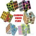 Z-cube 3x3x3 velocidad cubo mágico cuadrado profesional neo cube con negro de fibra de carbono pegatina cubo mágico para los niños juguetes educativos