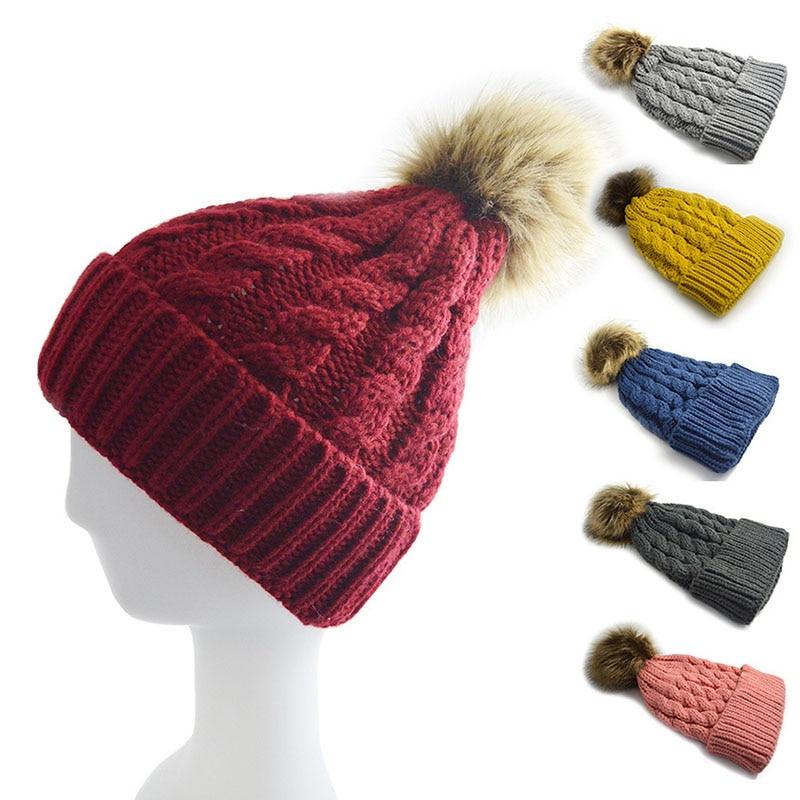 Women Lady Hat Knitting Cap Keep Warm Elasticity Comfortable Soft For Autumn Winter -MX8