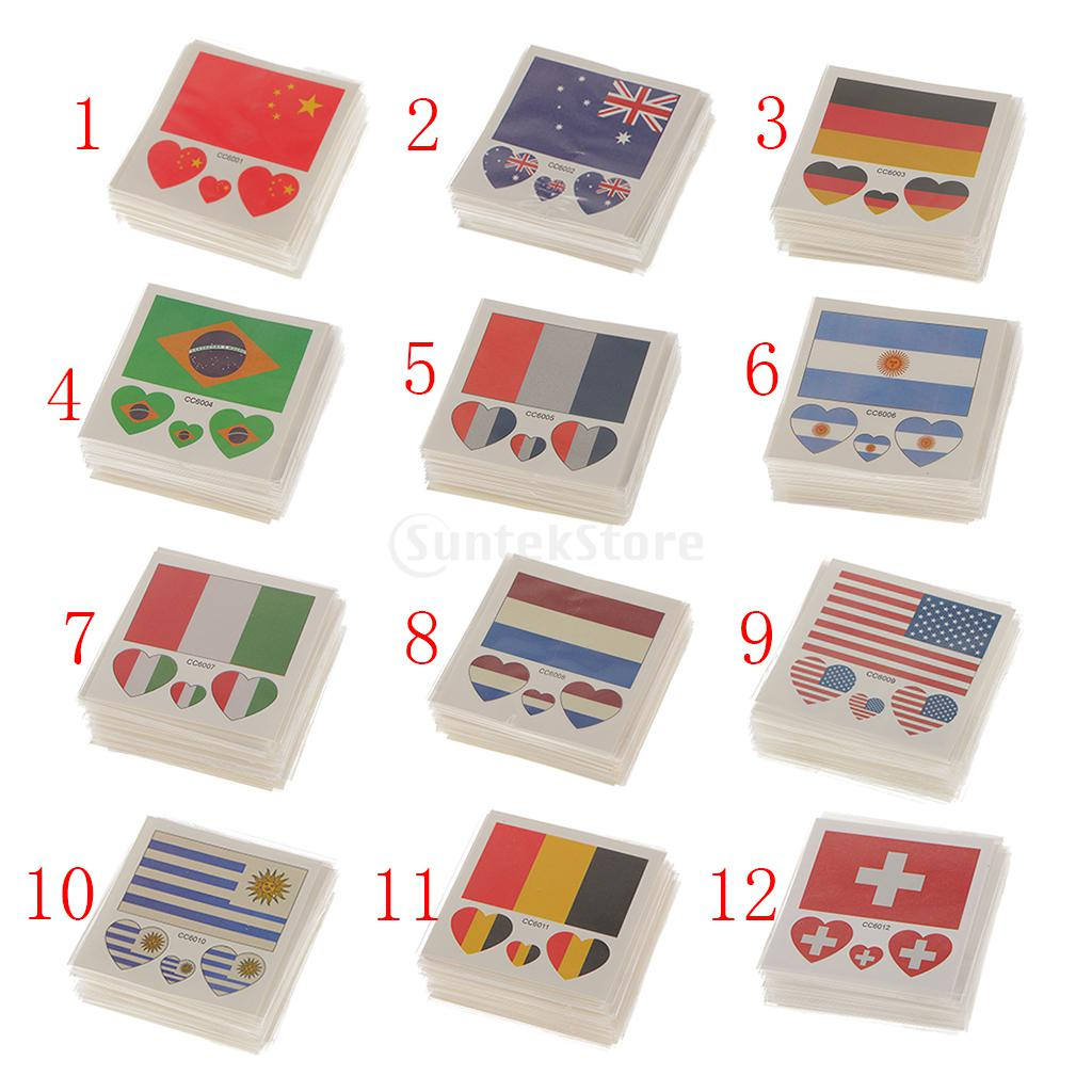 50 Pack Flag Stickers Euro Cup Football European Championship Cheer