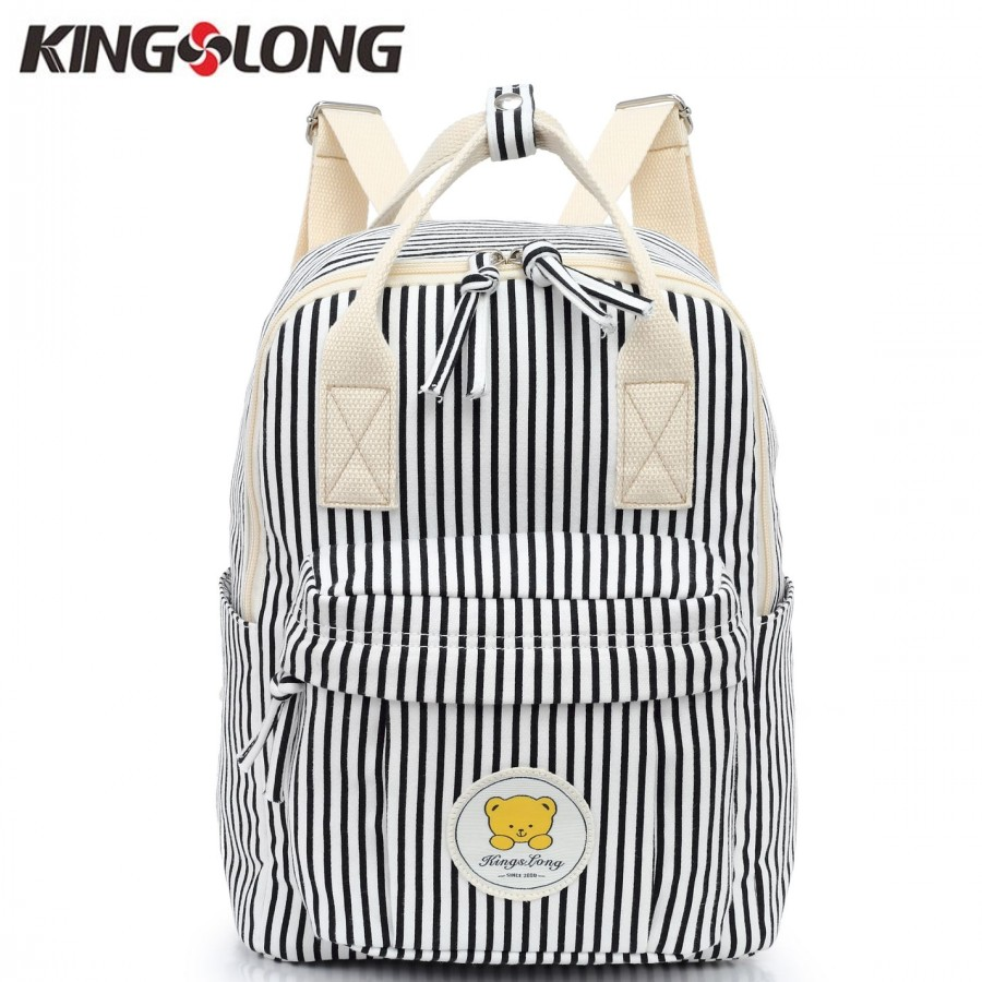 Kingslong Fashion Women Backpack Female For Girls To School Striped Winlaw Backpack Small School Bags Knapsack Klb1310737-7
