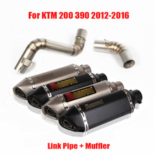 For KTM 200 390 2012-2016 Exhaust System Full Muffler Escape Tail Silencer Modified Link Connect Tube for KTM 200 390 2012-2016 цена