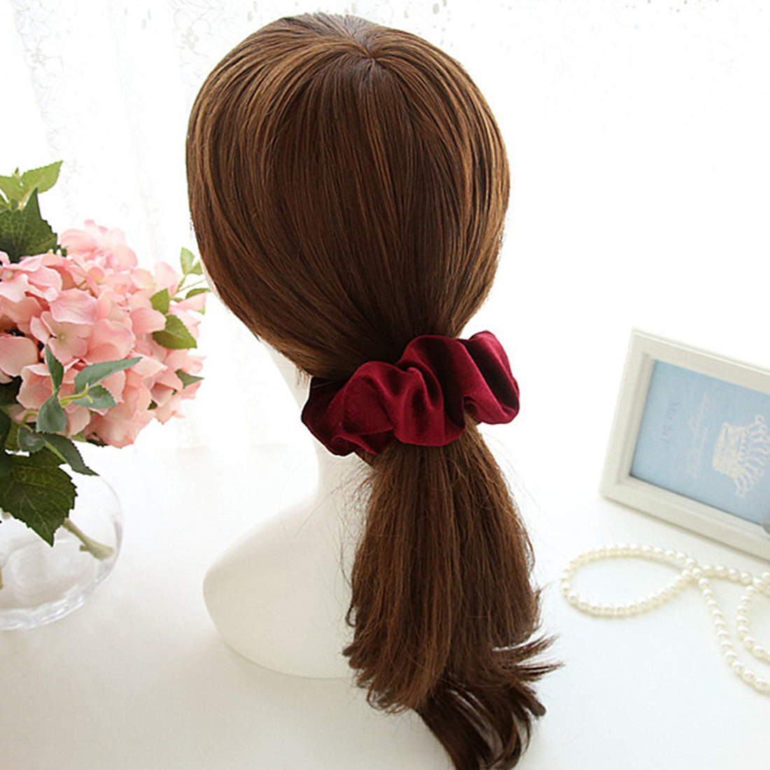 New arrival Velvet Elastic Hair Ropes Scrunchies Girls No Crease Hair Ties Women Hairbands Headdress Hair Accessories