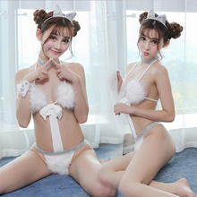 Women Rabbit Bunny Halloween Cosplay Costume Party Sexy Erotic Lingerie Outfit Fancy Bodysuit Jumpsuit Babydoll Teddy Set