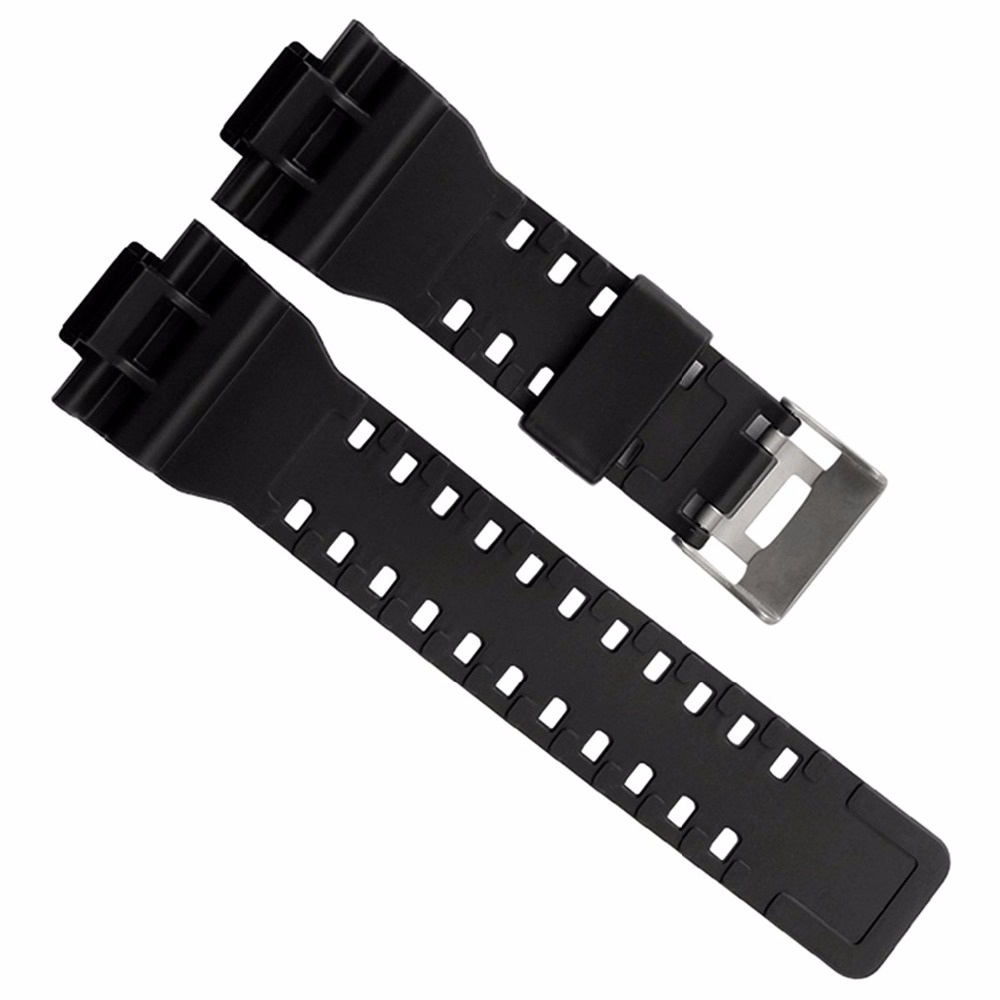 Men Sport Diving Watch Band Strap For g-shock GD120/GA-100/GA-110/GA-100C Rubber Silicone Metal Buckle Substitute Wrist Straps 1pcs 478 865pe ga 8ipe1000 g