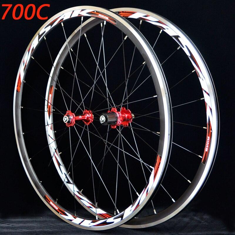 Rodado da bicicleta estrada da bicicleta rodado 700c selado rolamento ultra leve rodas rodado aro 11 velocidade apoio 1650g