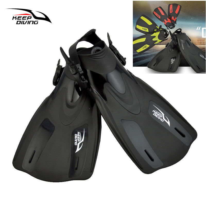 KEEP DIVING Fustanet e notit për të rritur në moshë madhore Trek Professional Diver profesionale Swimming Foot Flipper Diving Fins Flying Snorkeling