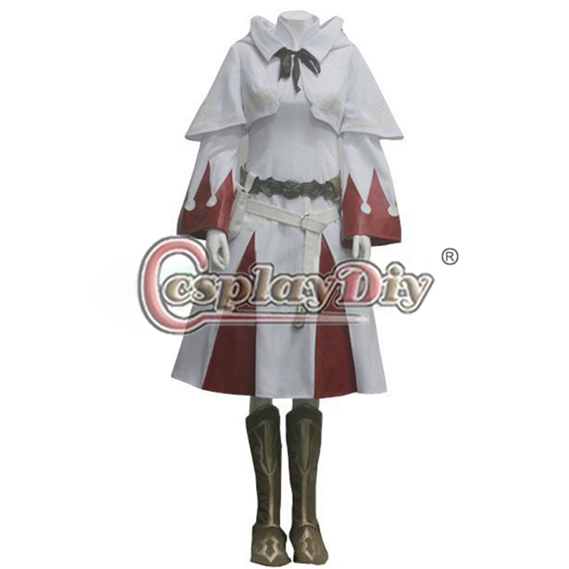 Cosplaydiy Custom Made Final Fantasy XIV 14 White Mage Cosplay Outfit Adult Halloween Anime Cosplay Costume D0516
