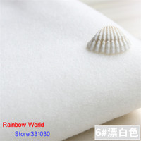 6 Super White 1 Meter One Side Brushed Imitation Woolen Garment Fabric For DIY Colthes Overcoat