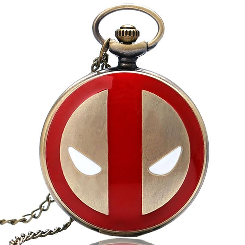 Cool Fashion Deadpool Theme Fob zakhorloge met zwarte Chian ketting - Zakhorloge - Foto 3