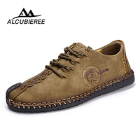 Summer Casual Lace Up Shoes Men Leather Walking Boat Shoe Loafers Moccasins Flats Shoes Men Luxury