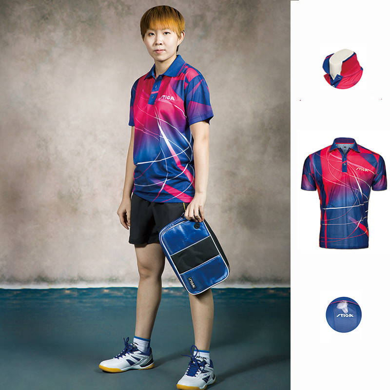 Original STIGA  Table Tennis Shirt Sport Jerseys  Badminton Jersey  Mujer Hombre Tenis PING POING Clothing(China)