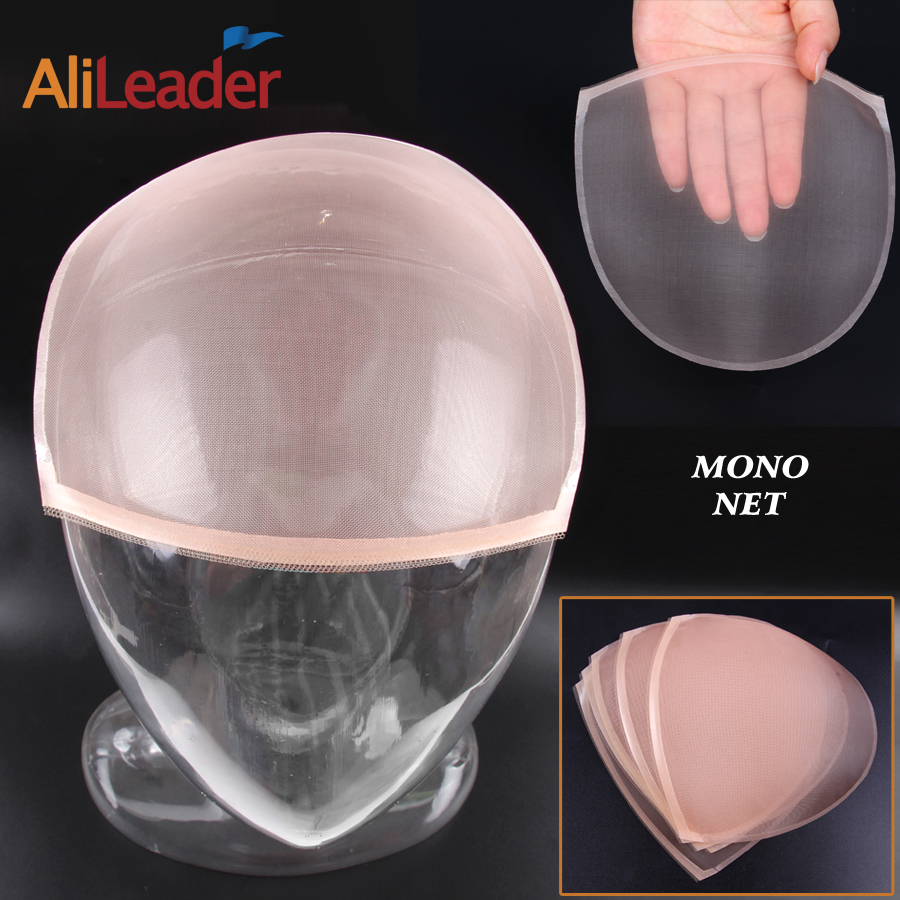 Alileaser  Mono Net For Making Wig Lace Wig Toupee Mono Wig Beige Color Foundation Hair Accessories Weaving High Quality