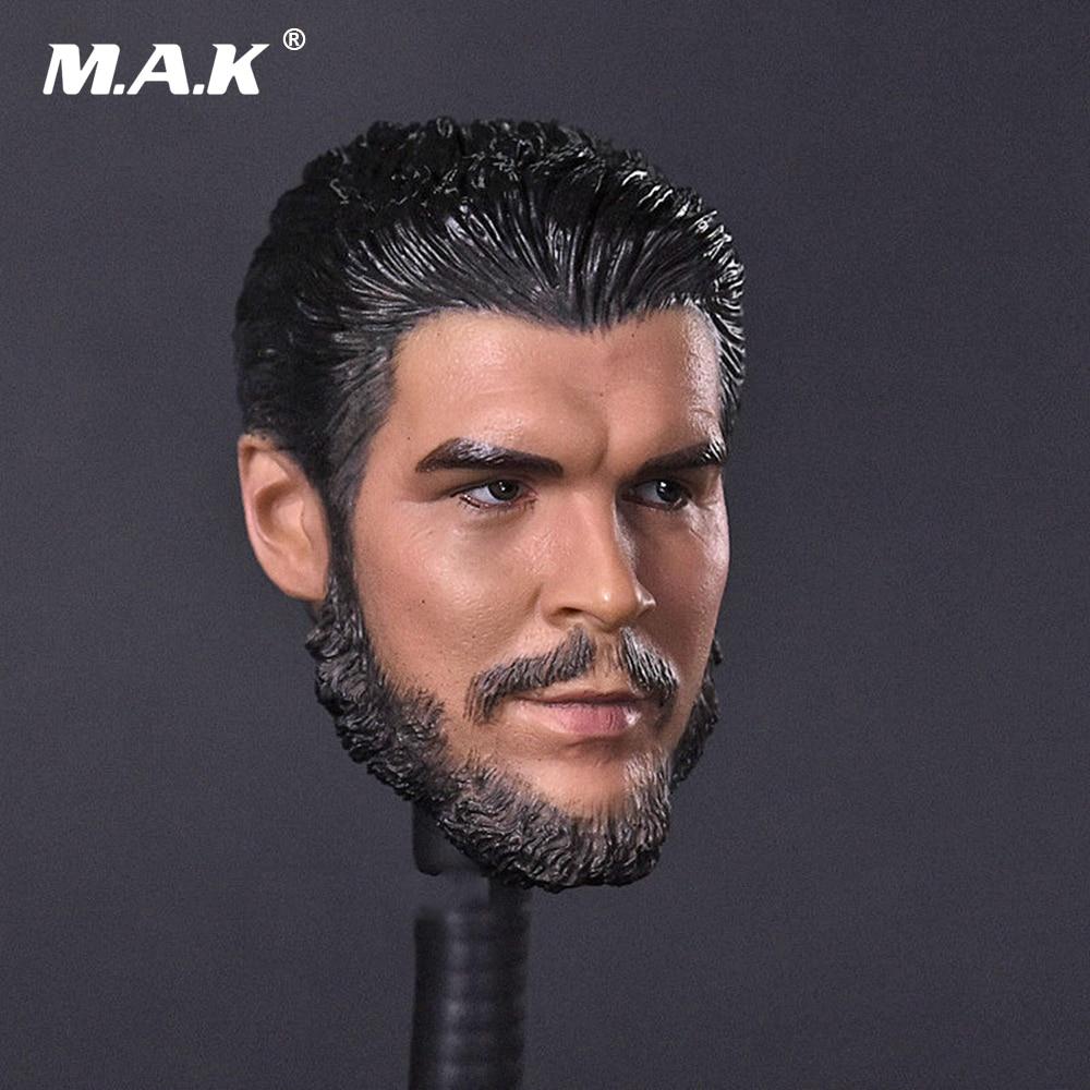 1/6 Scale Figure Head Sculpt Cuban Revolutionary Hero Che Guevara Leader Head Carving Model for 12 inches Solider Figure Body 1 6 scale male figure carving daredevil punisher jon bernthal head sculpt battle damage version model for 12 body
