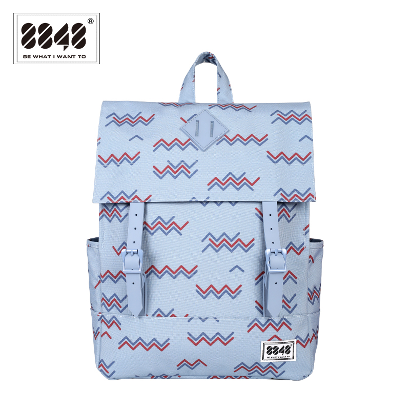 Preppy Style Women Backpack Female Student 15 6 inch Laptop Soft Back Waterproof Oxford Polyester Material