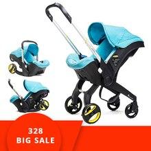 4 в 1 автомобиль детская коляска для новорожденного Детская кроватка Wagen Портативный путешествия Системы коляска с Автокресло Baby комфорт