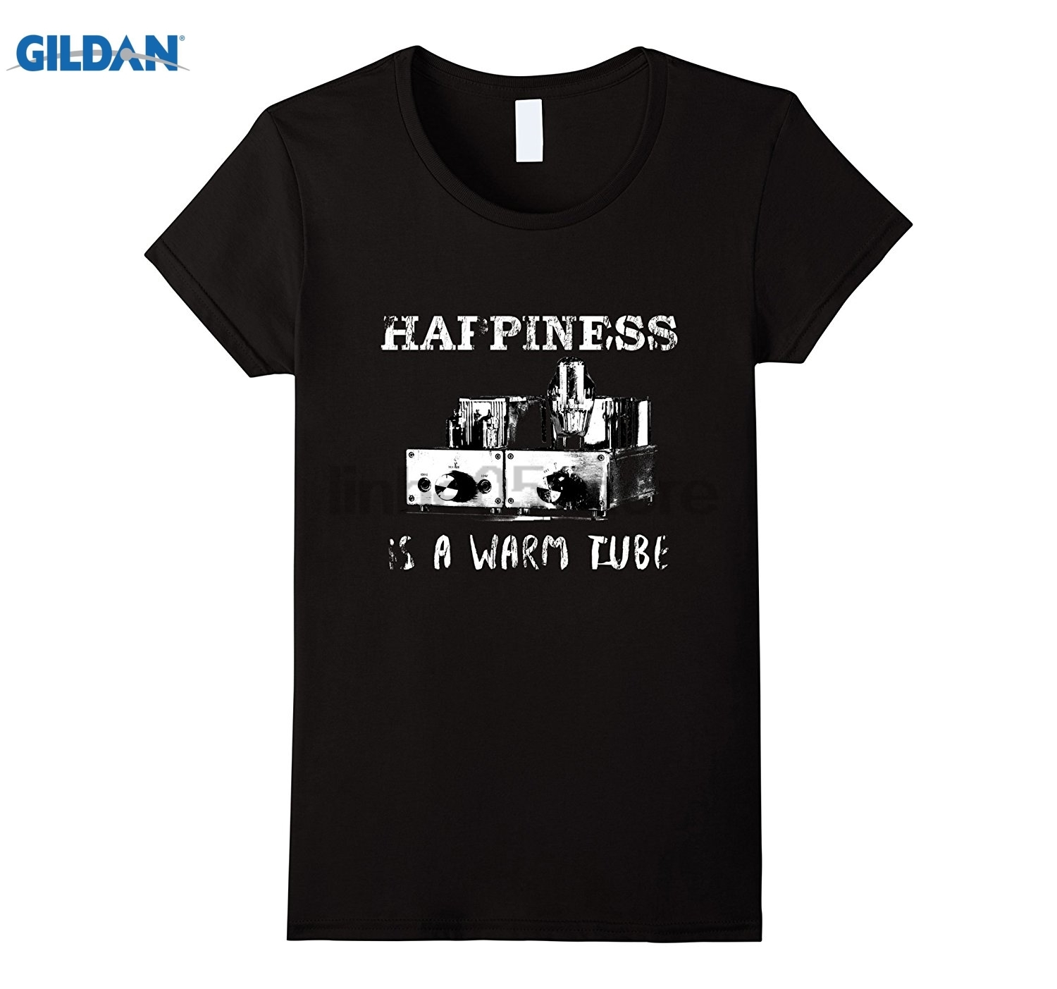GILDAN Vacuum Tube Audiophile Headphones Amp Hi-Fi T-shirt summer dress T-shirt