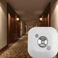 Luz CONDUZIDA Da Noite Indução Dupla hotel pública Sensor de Movimento PIR Infravermelho auto Lâmpada banheiro Armário de Parede Magnético Escadas Luz