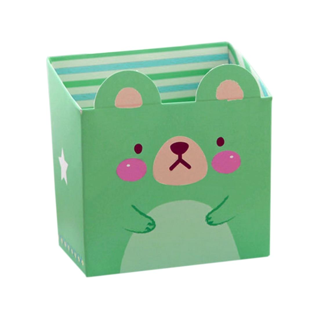 Cute Cat Cartoon Paper Stationery Makeup Cosmetic Desk Storage Box DIY