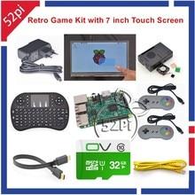 52Pi Raspberry Pi 3 Model B 32GB RetroPie Game Kit with 7 Inch 1024*600 Touch Screen SNES USB Controller Gampad Joystick Joypad