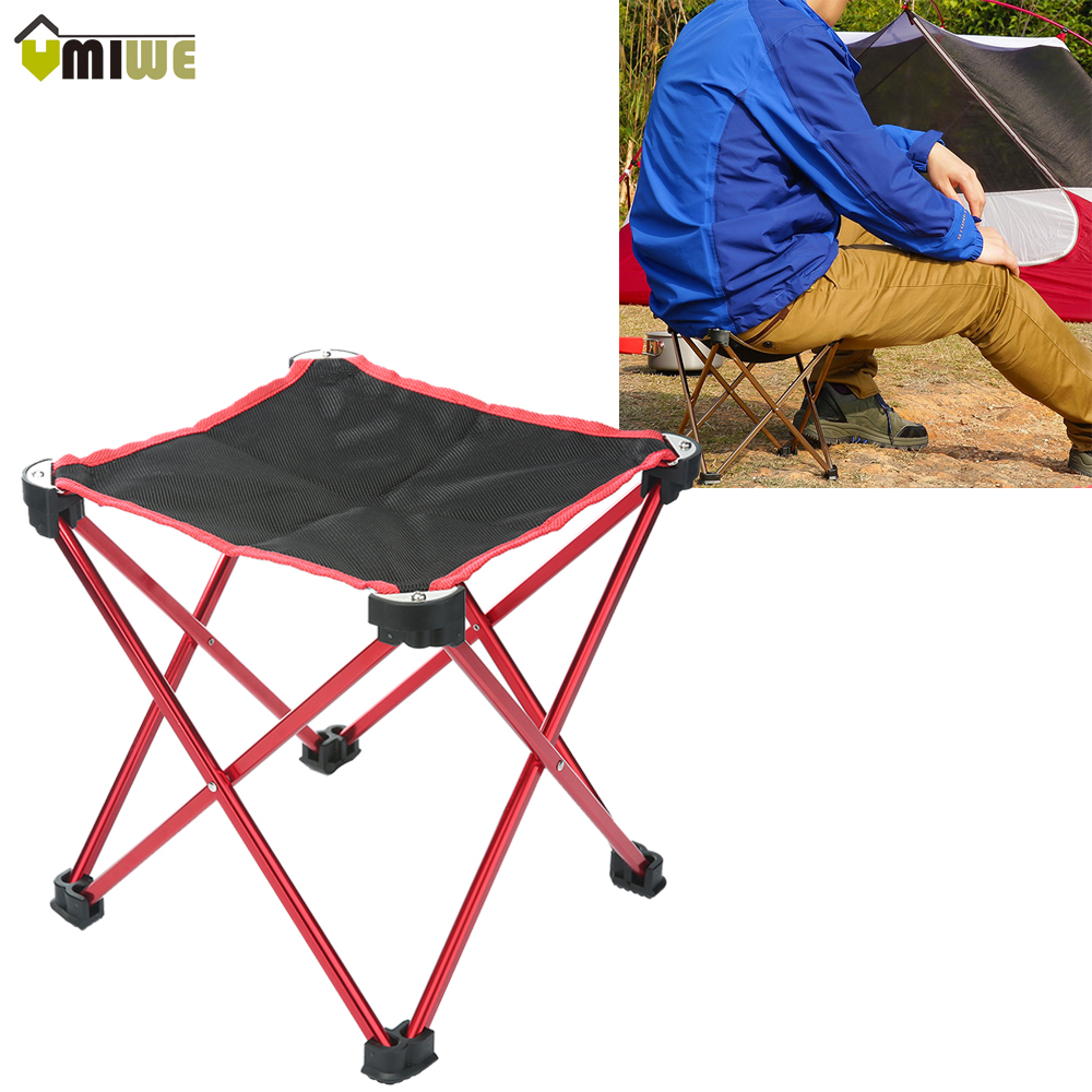 portable foldable aluminum alloy oxford fabric outdoor camping fishing chairs 4 legs strong hiking picnic fishing - Heavy Duty Folding Chairs