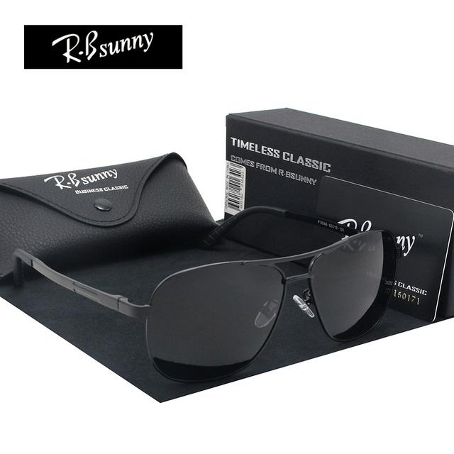Luz frame da liga de óculos polarizados marca de Moda Das Mulheres Dos Homens clássicos óculos de sol Polaroid lentes UV400 Óculos de Condução pesca
