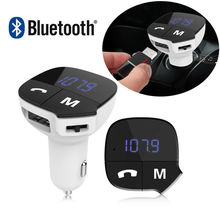 Bluetooth FM Transmitte Wireless FM Radio Adapter Car Kit with Hands-Free Universal Car Charger with Dual USB Charging Ports