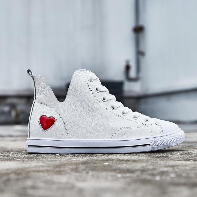 Casuales Cuero 2018 Zapatos blanco Estudiantes Negro Hip Las Nueva Street  Mujeres Dance Versión Hop De ... 2785e683705