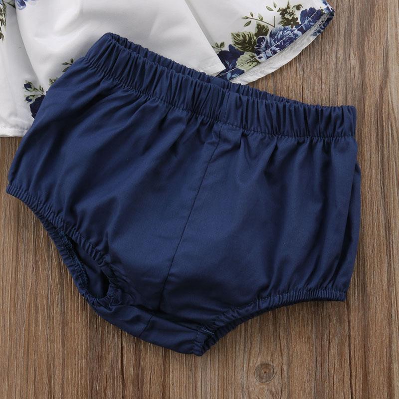 Pudcoco New Fashion Newborn Infant Baby Girls Clothing Floral Tops Dress Harem Shorts Pants Summer Clothes UK