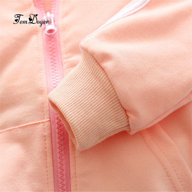 Cotton long sleeve solid zipper jacket+pants tracksuit