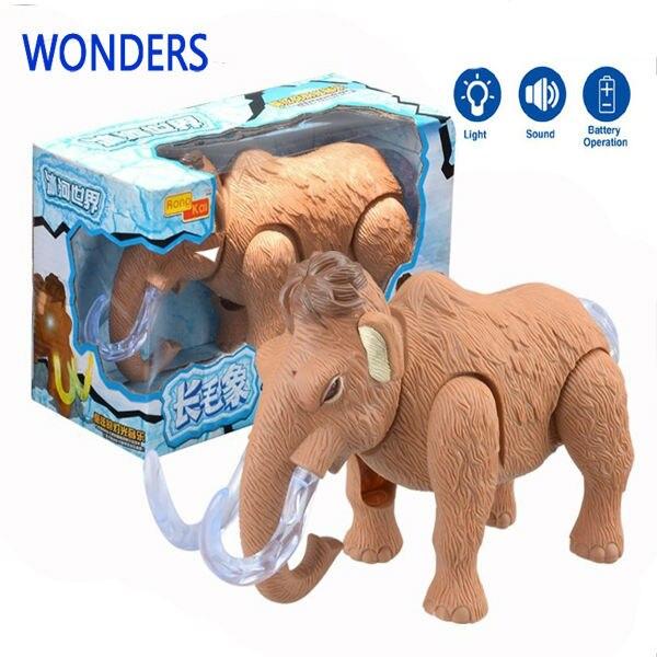 mammut giocattolo  Regalo di natale! Simulazione bambole animali giocattoli elettrici ...
