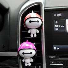 Helmet Baymax Perfume Clip Air Freshener Car Accessories