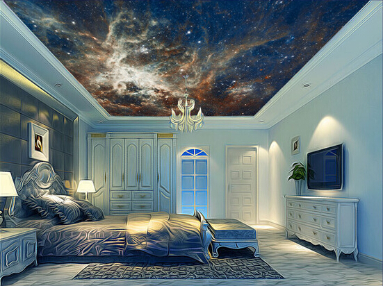 Custom wallpaper 3D, the Milky Way universe murals for the living room bedroom TV ceiling wall waterproof papel de parede european church square ceiling frescoes murals living room bedroom study paper 3d wallpaper