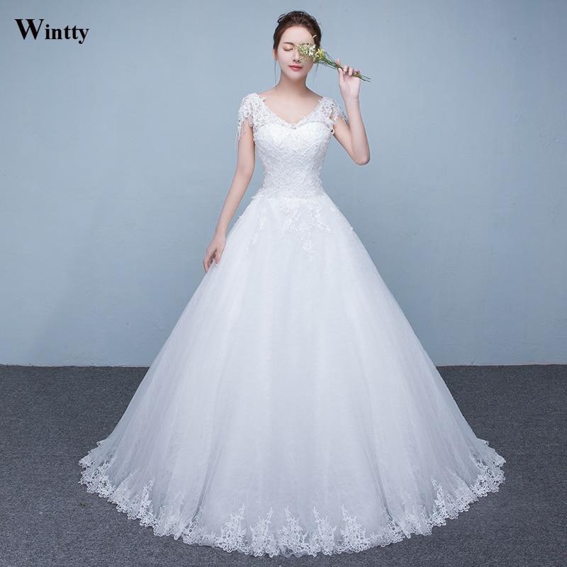 Wintty Romantic Princess Lace Wedding Dress 2017 Vintage