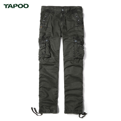 TAPOO 2017 Brand Mens fashion Military Cargo Pants Multi-pockets Baggy Men Pants Casual Trousers Overalls Army Pants Joggers