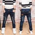 Crianças Jeans Para Meninos Nova Marca de Moda Coreano Crianças Calças de Brim Calças Jeans Baby Boy Casual Cintura Elástica Jeans Reta Roupas