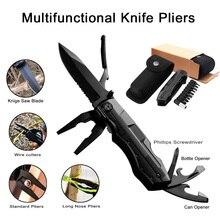 Pince pliante multifonctionnelle coupe câble poche extérieure Camping couteau de survie militaire ouvre bouteille de chasse couteau multioutil