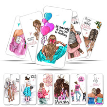 Soft Silicone Case For Lenovo Vibe S1 S1C50 S1A40 5.0 Cover Baby Black Brown Hair Mom Girl Phone Bumper