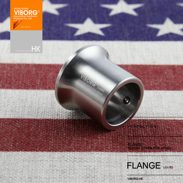 Superbe (1 Pair) VIBORG 25mm Solid 304 Stainless Steel Extra Thick Flanges Shower  Curtain Rod Closet Rod Flange Bracket Holder