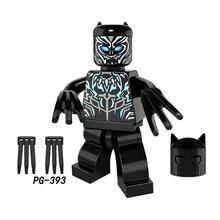 Para legoing Marvel Super Heroes Vingadores Thanos Groot Pantera Negra Hulk Homem De Ferro Homem Aranha Building Blocks Brinquedos Figuras